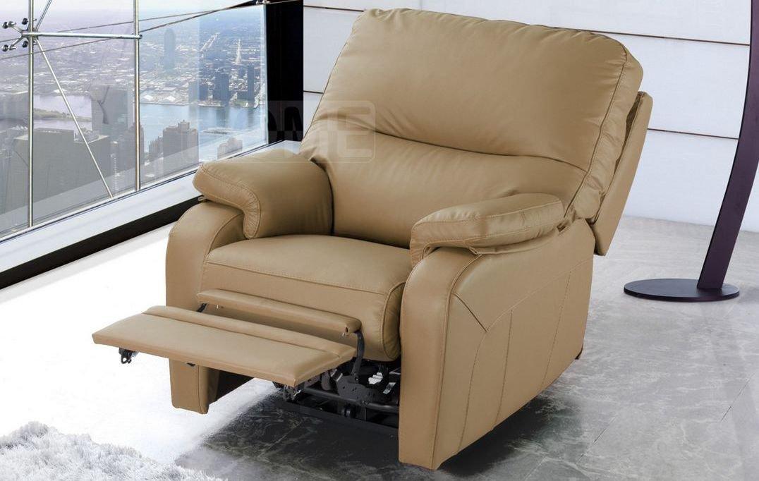 Sillón cama convertible de cuero