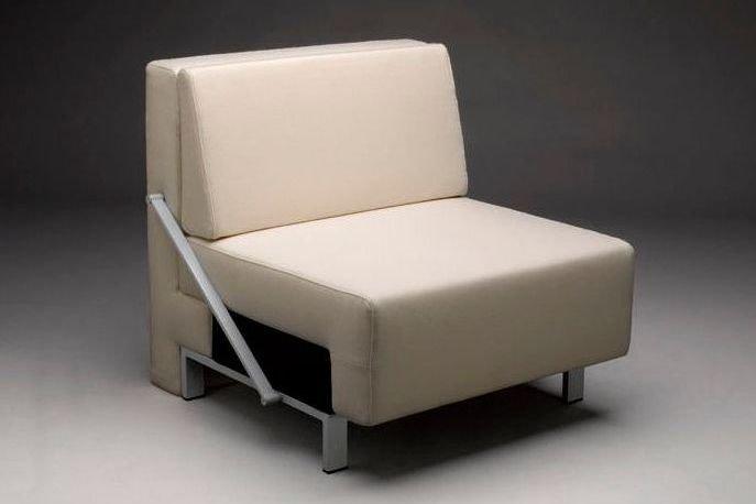 Sillón cama de tela monoplaza