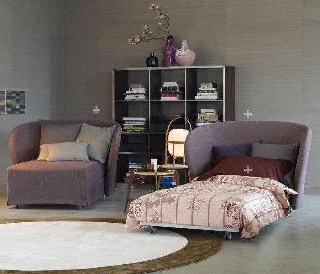 Sillón cama moderno con revestimiento