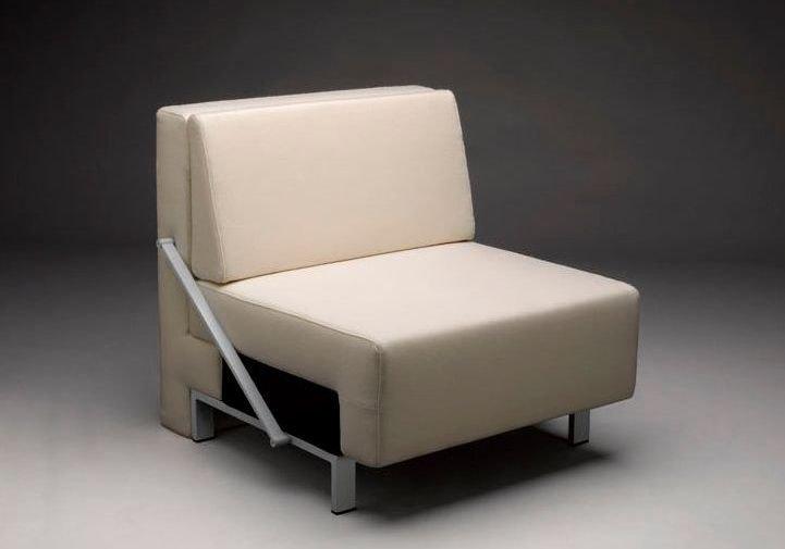 Sillón cama moderno de piel