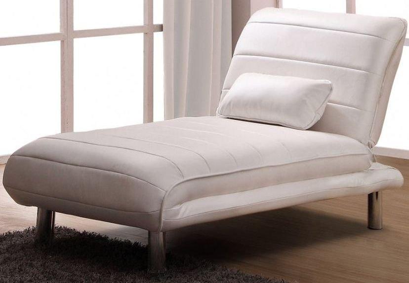 Sillón cama tapizado con piel