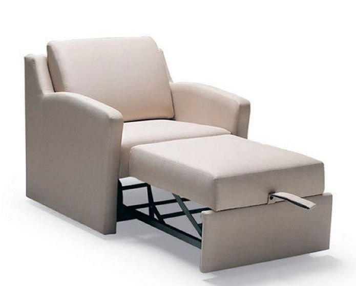 Sillón con cama de diseño elegante