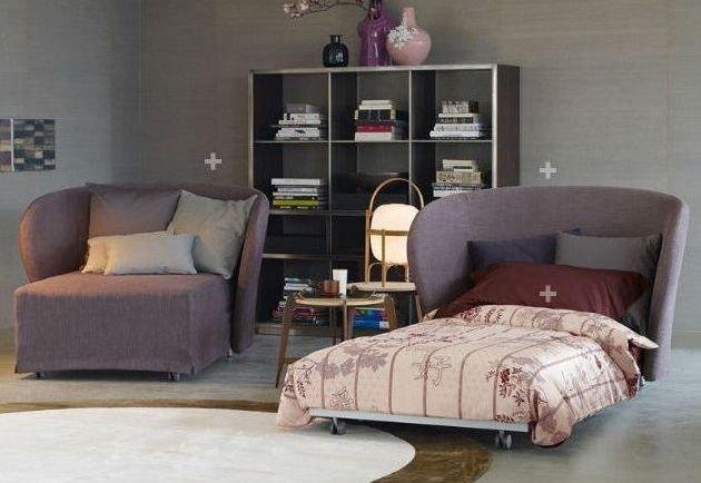 Sillón con cama moderno 1 plaza