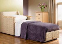 Sillón de cama convertible tapizado de tela