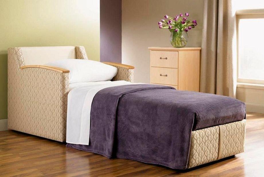 Sill n de cama convertible tapizado de tela im genes y fotos for Sillon cama juvenil